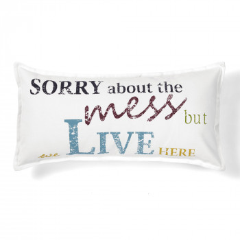quote sorry decorative pillow