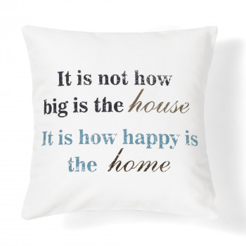 quote how happy decorative pillow