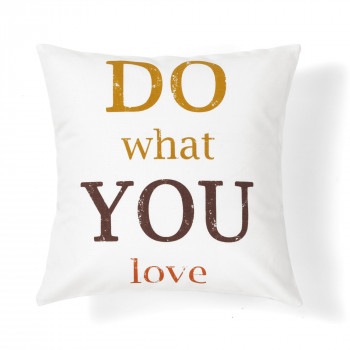 quote do love decorative pillow