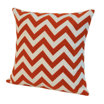 Chevron Baskılı Kırlent Orange-40x40