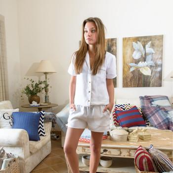 Emma Linen Shirt & Hot Pants