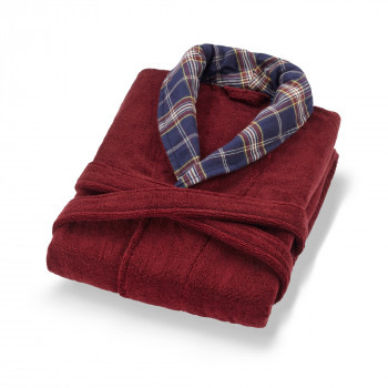 signature bathrobe-red wine