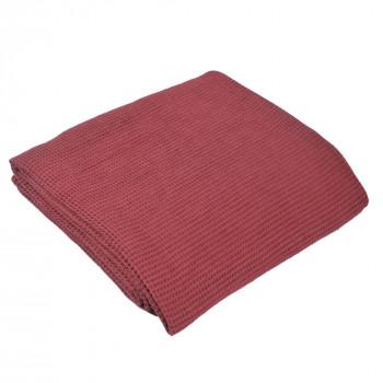 Texture Pique Blanket Marsala 102x94 inch
