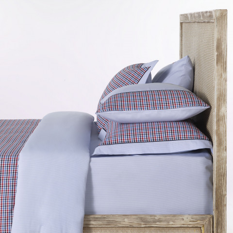 Richmond Blue-Red Check Bedding Set