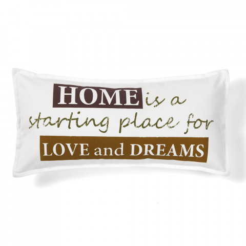 quote love and dreams decorative pillow