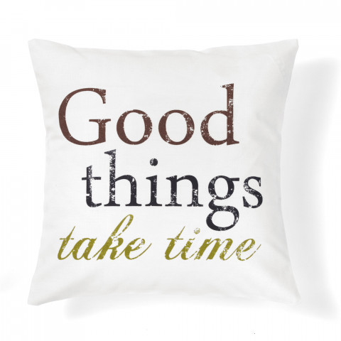 quote good things decorative pillow