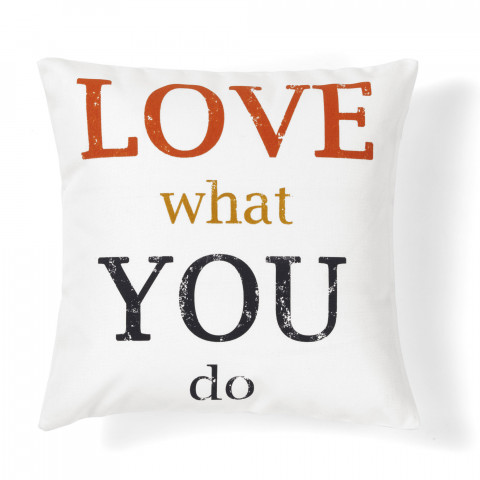 quote love do decorative pillow