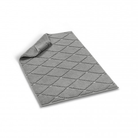 Diamond Bath Rug-Dark Gray-60x90 cm - 24x35 inch