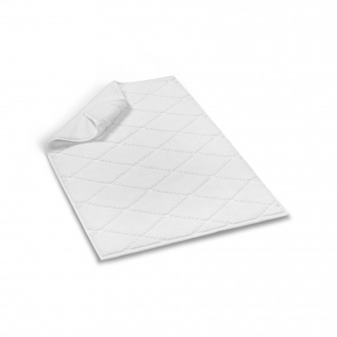 Diamond Bath Rug-White-60x90 cm - 24x35 inch