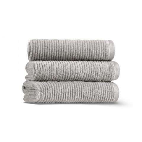 Slim Ribbed Üçlü Havlu Seti 33x33 Fibrosoft ®