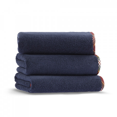 signature bath towel-navy