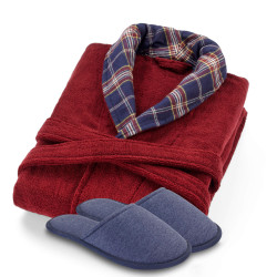 Signature Bathrobe Set & Relax Slippers