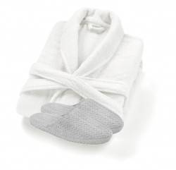 Valencia Bathrobe & Chevron Slippers Set