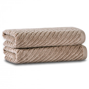 Chevron Set of Two Towel Set 76x142 Fibrosoft ®