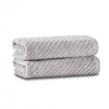 Chevron Set of Two Towel Set 33x33 Fibrosoft ®