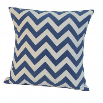 Chevron Printed Sham Blue-40x40