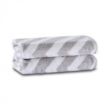 Chevron Yarn Dyed Set of Two Towel Set 40x71 Aerocotton ®