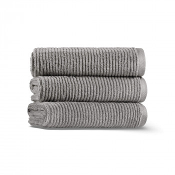 Slim Ribbed Set of Three Towel Set 40x71 Fibrosoft ®