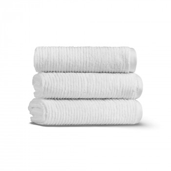 Slim Ribbed Set of Three Towel Set 33x33 Fibrosoft ®