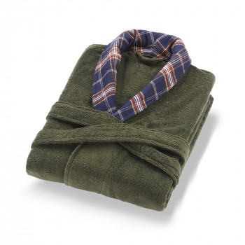 Signature Bathrobe Olive SM