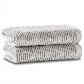 Slim Ribbed Set of Two Towel Set 76x142 Fibrosoft ®
