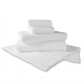 Terry Striped Towel & Bathmat Set