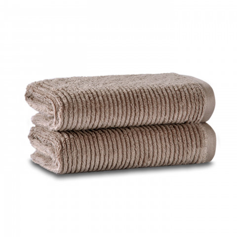 Slim Ribbed Set of Two Towel Set 40x71 Fibrosoft ®