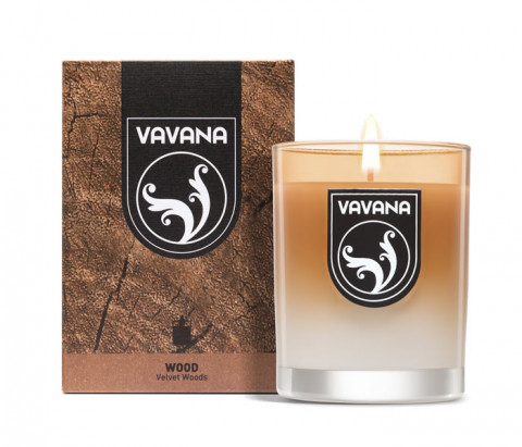 Vavana Scented Candle Wood Collection-Velvet Woods
