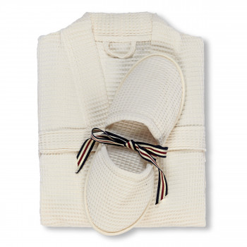 Long Island Bathrobe & Slippers Set
