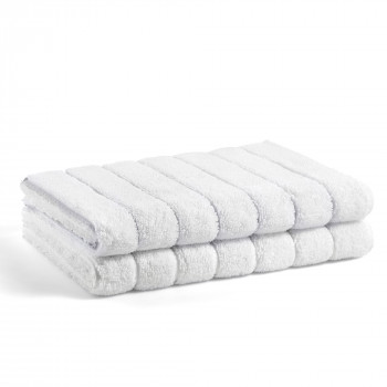 Tapis De Bain En Coton Biologique Terry Striped