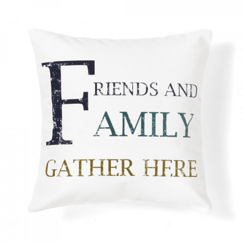 quote family decorative pillow