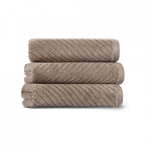 Chevron Set of Three Towel Set 33x33 Fibrosoft ®