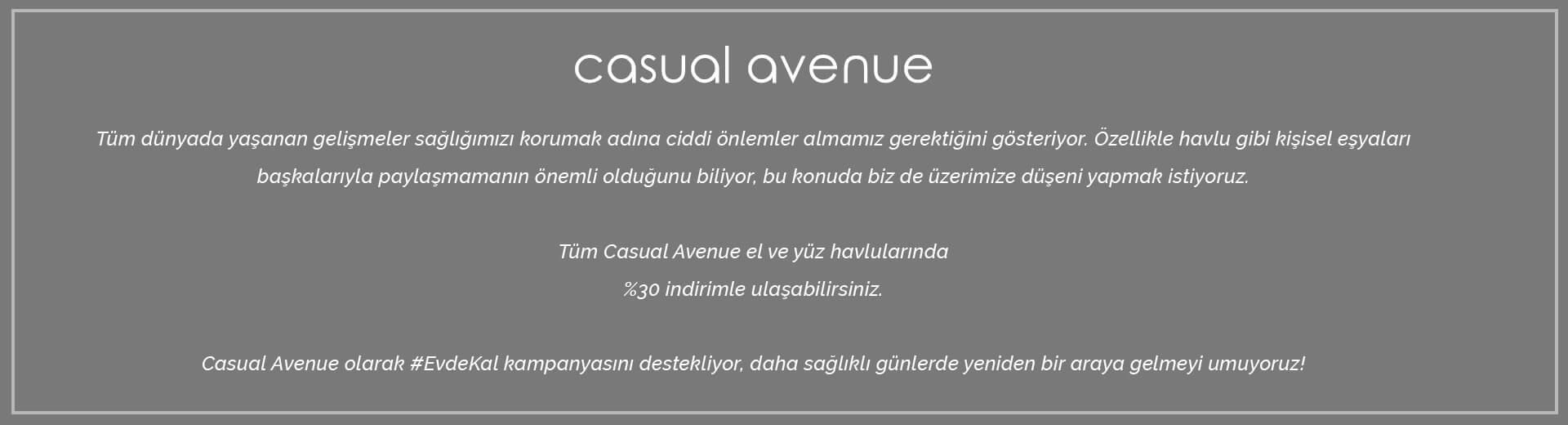 Casual Avenue, Havlu, Bornoz